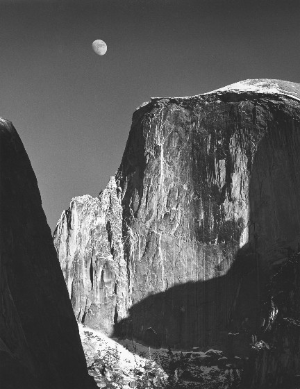Ansel Adams – Moon and Half Dome