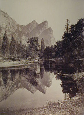 Carleton Watkins - The Three Brothers, Yosemite