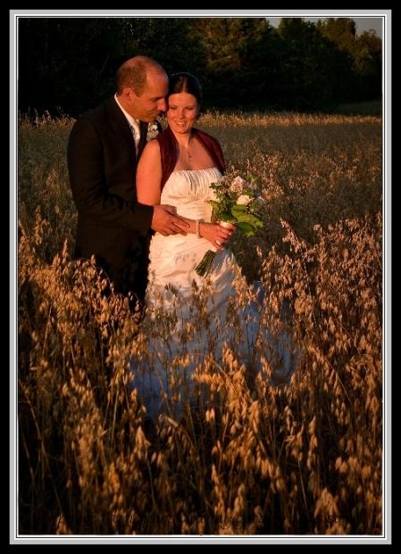 Wedding shot sunset