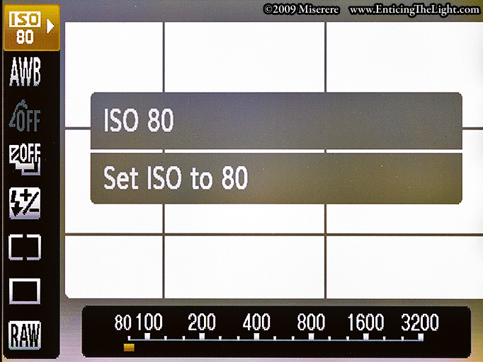 Canon S90 quick access menu through 'FUNC. SET'