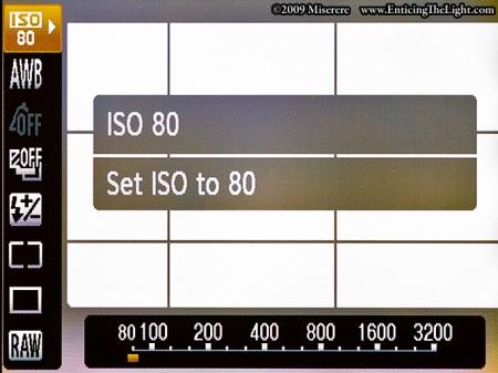 Canon S90 quick access menu through 'FUNC. SET'