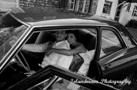 Street shooting a wedding